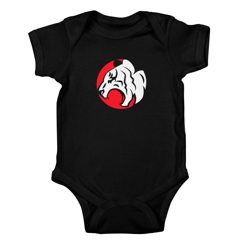 Fierce tiger Kids Baby Bodysuit by Synner Design