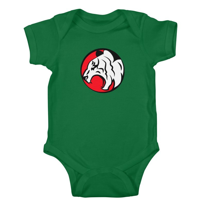Fierce tiger Kids Baby Bodysuit by Synner Design