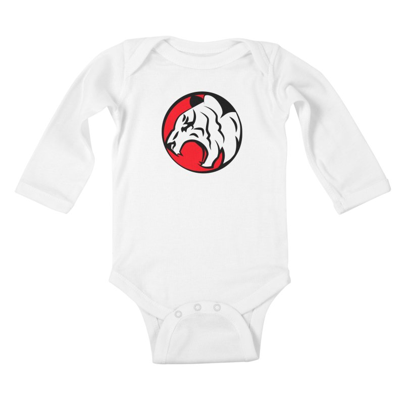 Fierce tiger Kids Baby Longsleeve Bodysuit by Synner Design