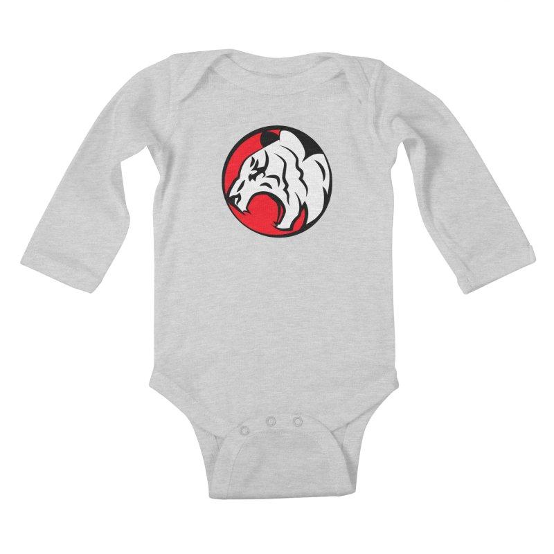 Fierce tiger Kids Baby Longsleeve Bodysuit by Synner Design
