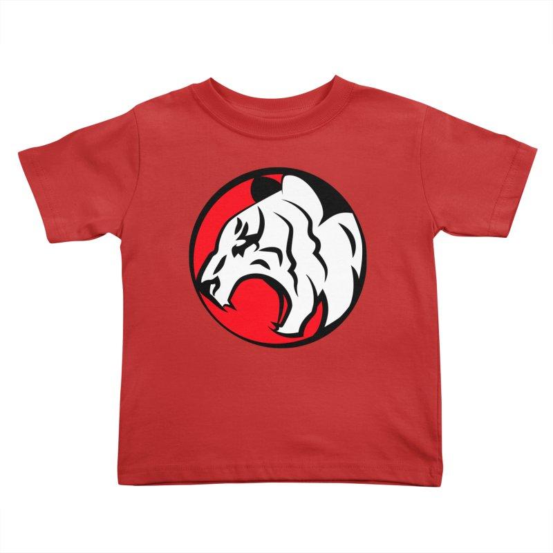 Fierce tiger Kids Toddler T-Shirt by Synner Design