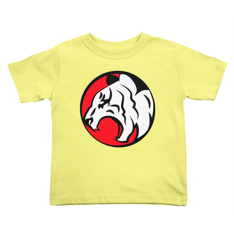 Fierce tiger Kids Toddler T-Shirt by Synner Design