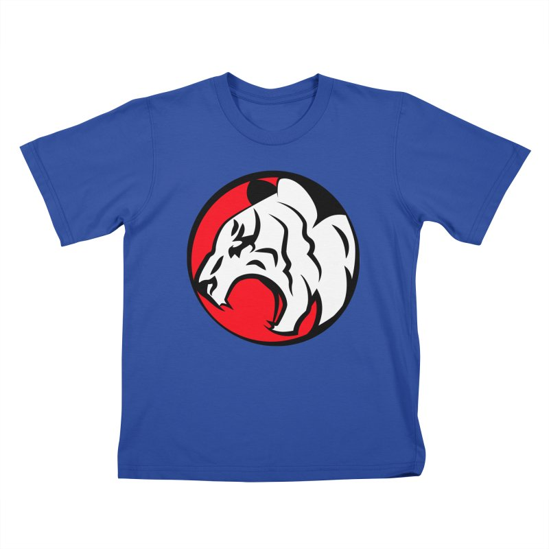 Fierce tiger Kids T-Shirt by Synner Design