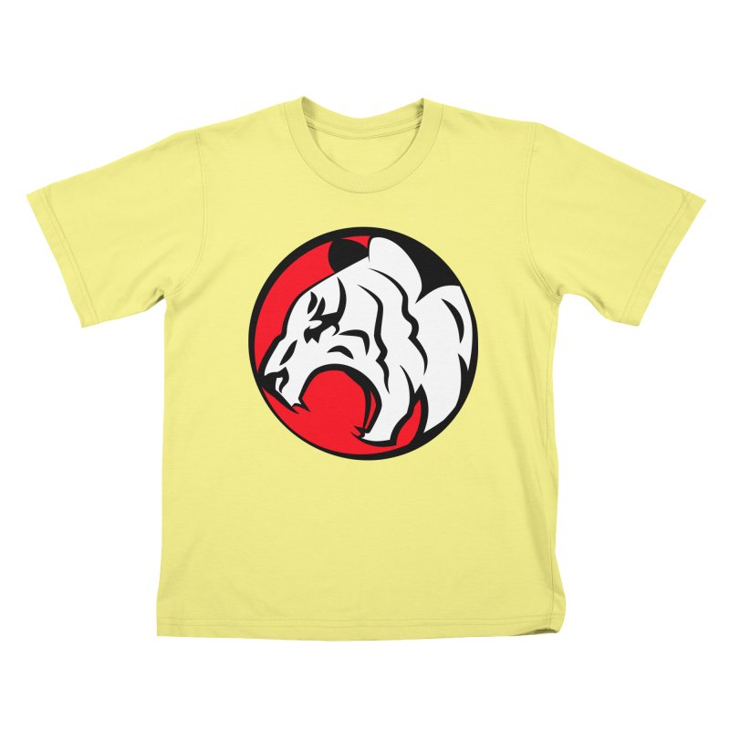 Fierce tiger Kids T-shirt by Synner Design