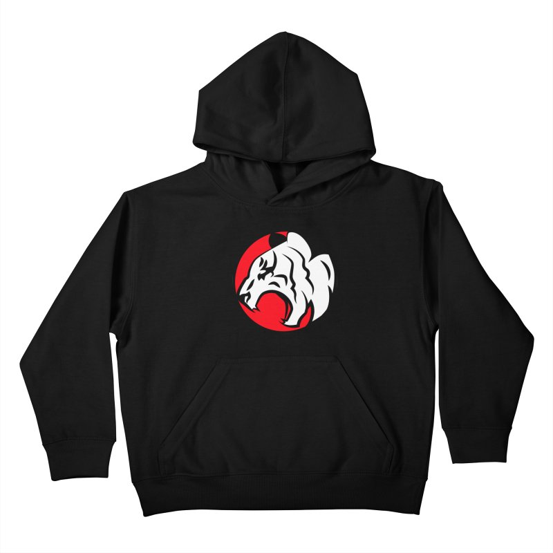 Fierce tiger Kids Pullover Hoody by Synner Design