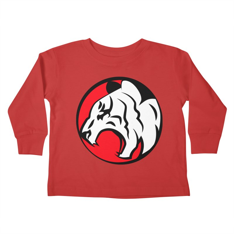 Fierce tiger Kids Toddler Longsleeve T-Shirt by Synner Design