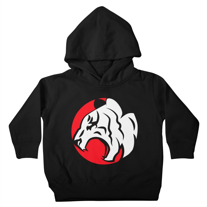 Fierce tiger Kids Toddler Pullover Hoody by Synner Design
