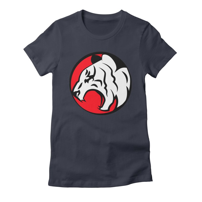 Fierce tiger Women's Fitted T-Shirt by Synner Design