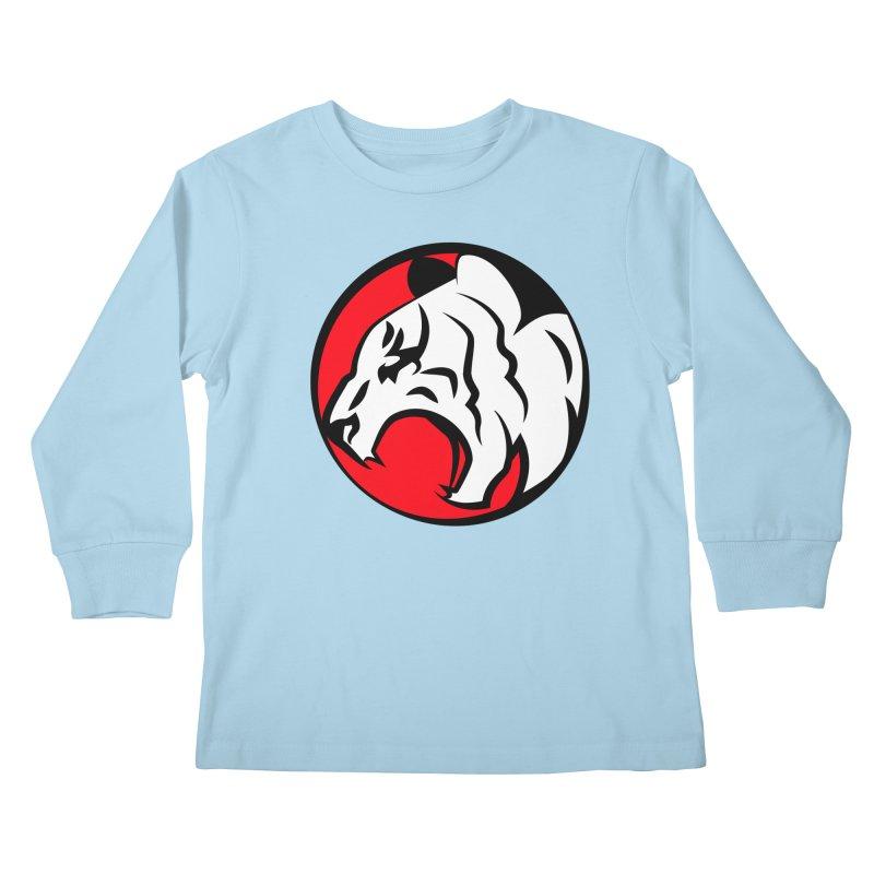 Fierce tiger Kids Longsleeve T-Shirt by Synner Design
