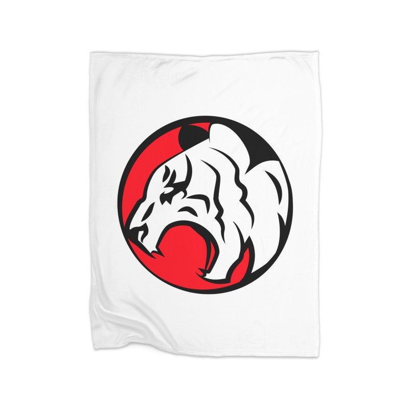 Fierce tiger Home Fleece Blanket Blanket by Synner Design