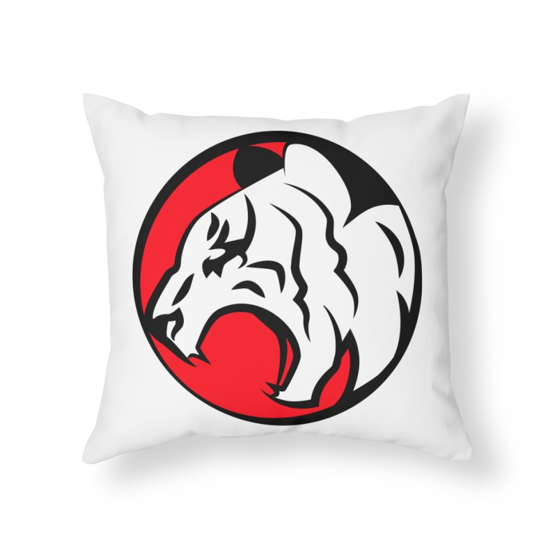 Fierce tiger Home Throw Pillow by Synner Design