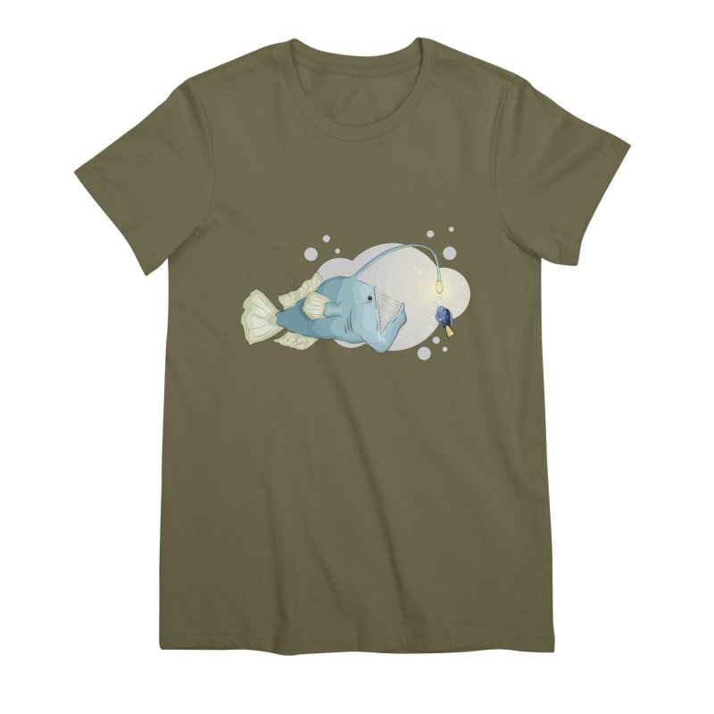 Anglerfish from the abyss Women's Premium T-Shirt by Synner Design