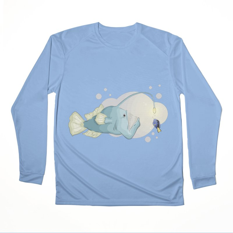 Anglerfish from the abyss Men's Performance Longsleeve T-Shirt by Synner Design