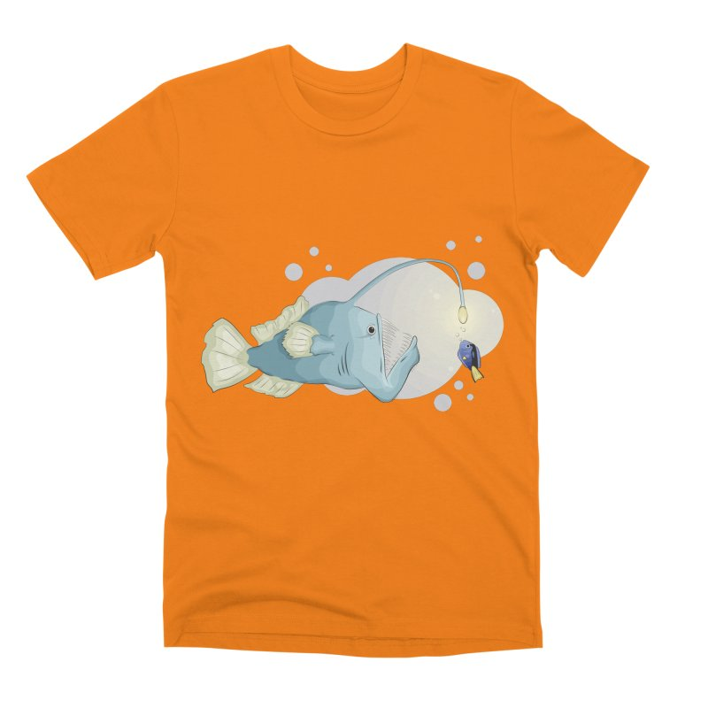 Anglerfish from the abyss Men's T-Shirt by Synner Design