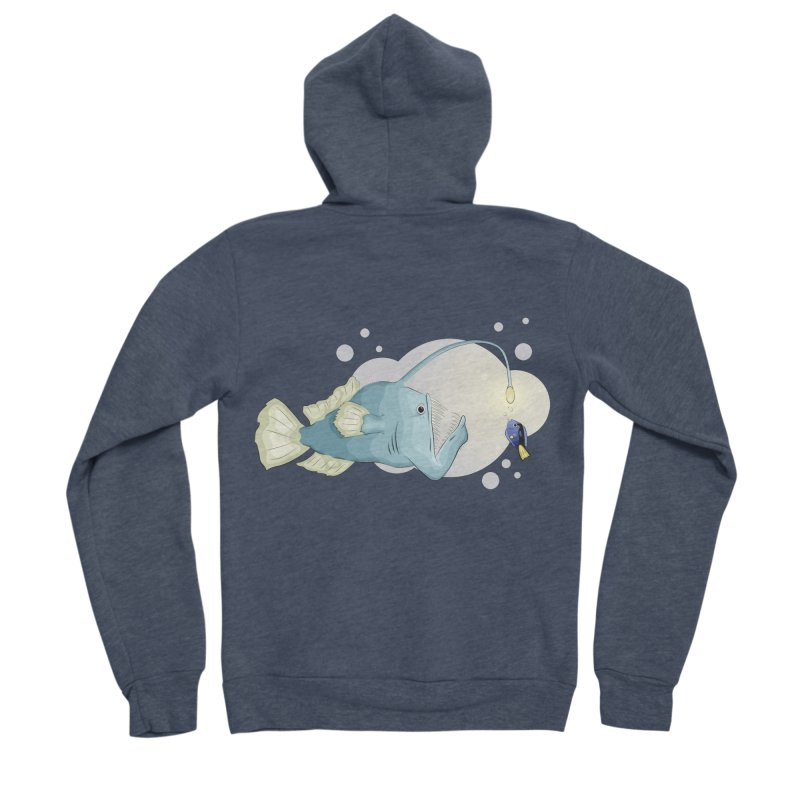 Anglerfish from the abyss Women's Sponge Fleece Zip-Up Hoody by Synner Design