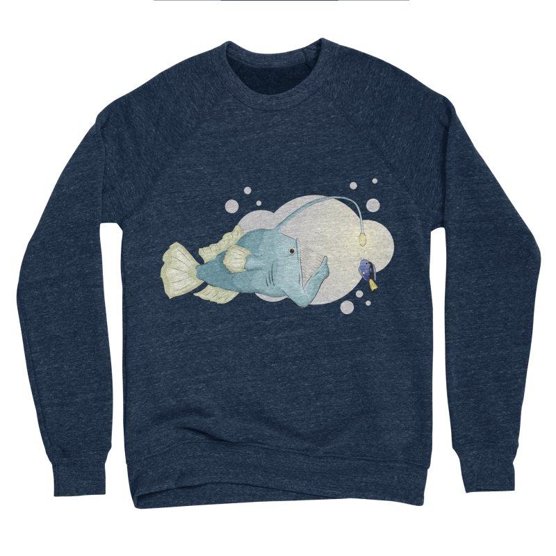 Anglerfish from the abyss Men's Sponge Fleece Sweatshirt by Synner Design