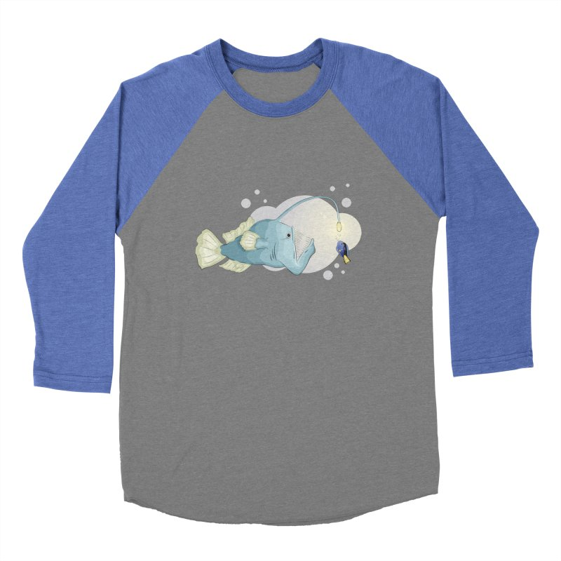 Anglerfish from the abyss Women's Baseball Triblend Longsleeve T-Shirt by Synner Design