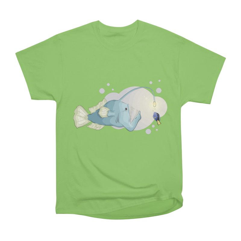 Anglerfish from the abyss Women's Heavyweight Unisex T-Shirt by Synner Design