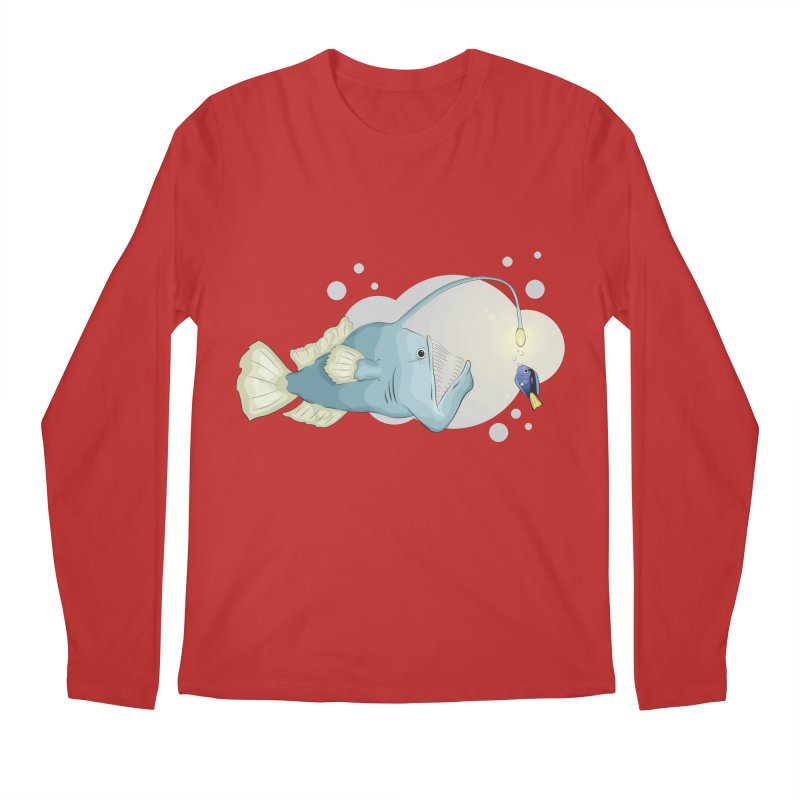 Anglerfish from the abyss Men's Regular Longsleeve T-Shirt by Synner Design
