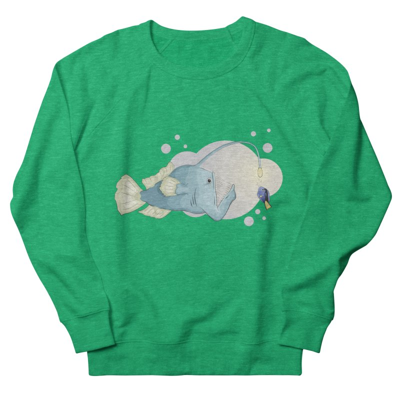 Anglerfish from the abyss Women's Sweatshirt by Synner Design