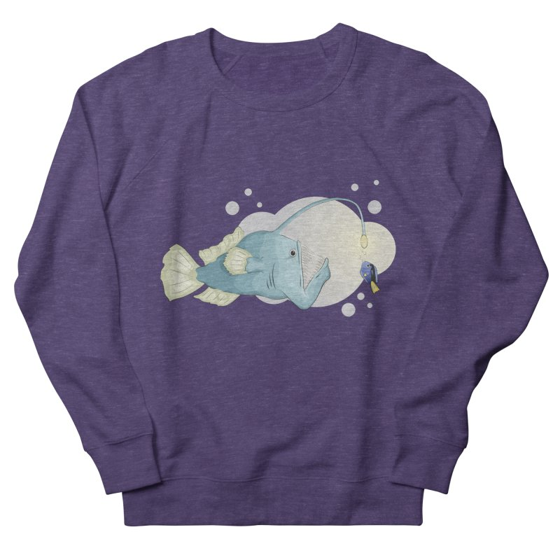 Anglerfish from the abyss Women's French Terry Sweatshirt by Synner Design