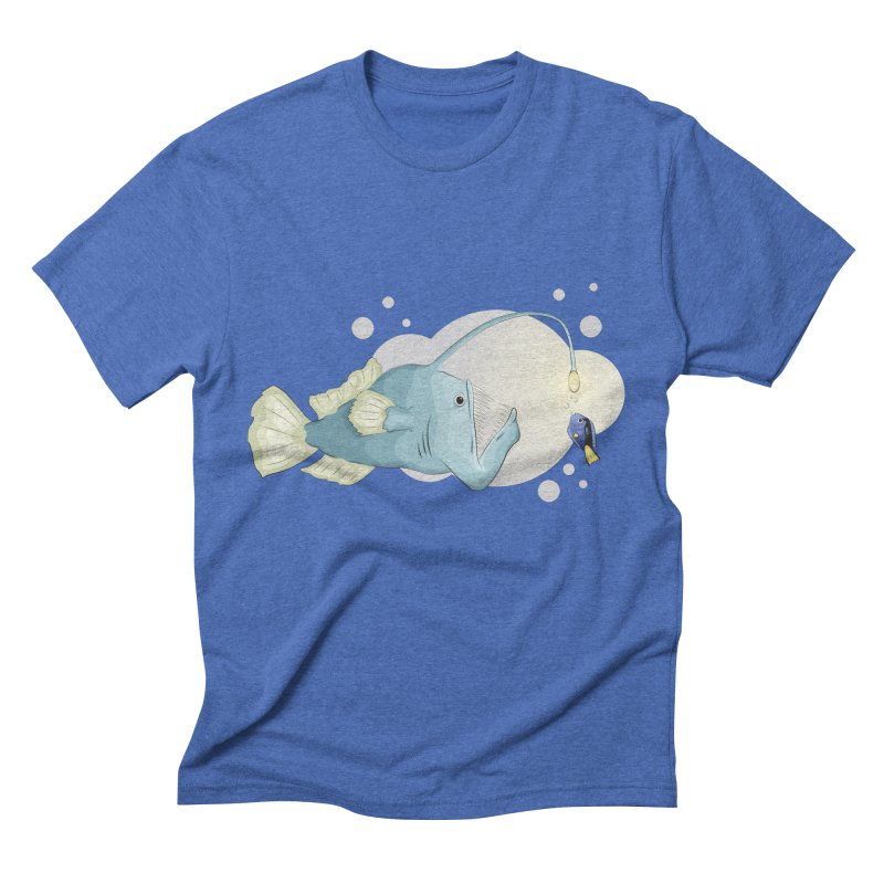 Anglerfish from the abyss Men's Triblend T-Shirt by Synner Design