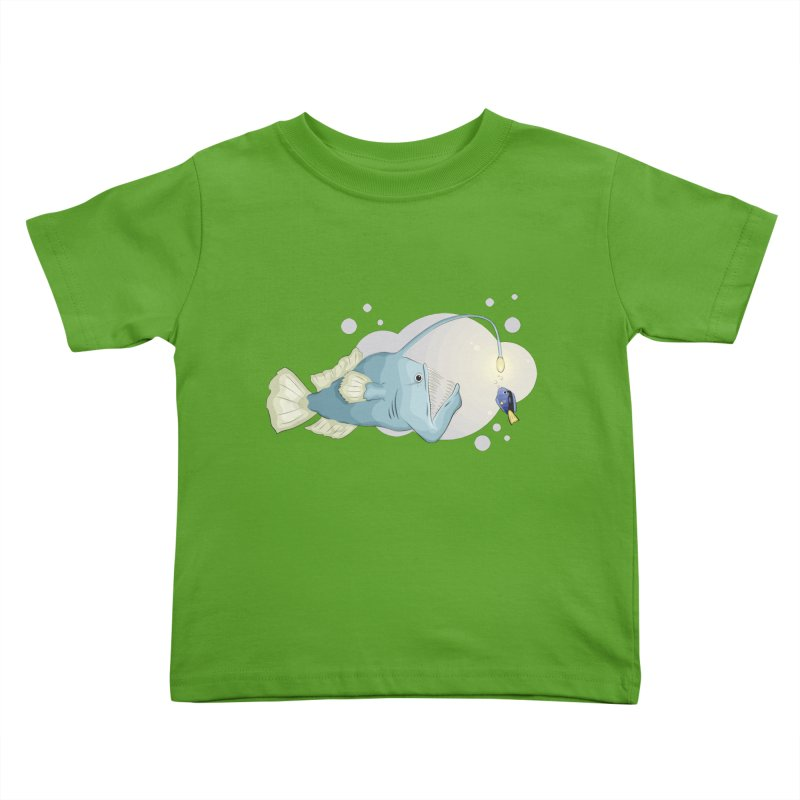 Anglerfish from the abyss Kids Toddler T-Shirt by Synner Design
