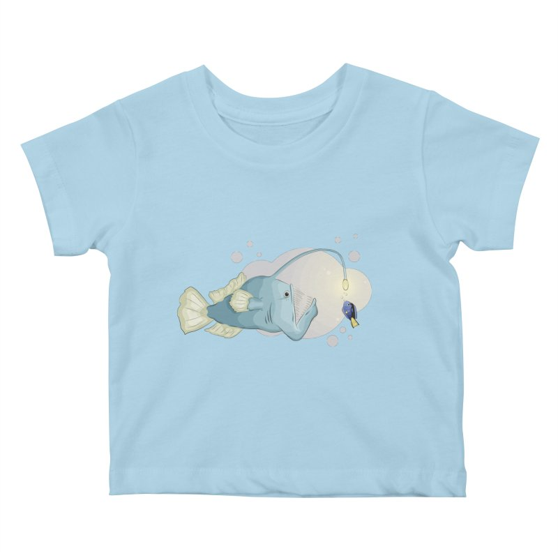Anglerfish from the abyss Kids Baby T-Shirt by Synner Design