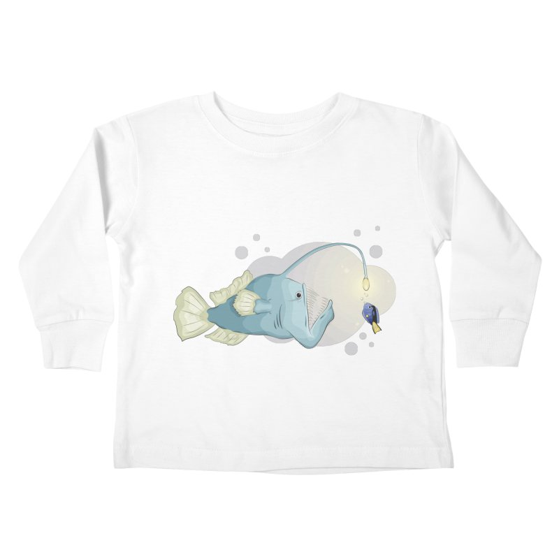 Anglerfish from the abyss Kids Toddler Longsleeve T-Shirt by Synner Design