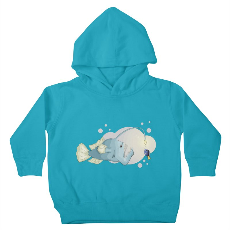 Anglerfish from the abyss Kids Toddler Pullover Hoody by Synner Design