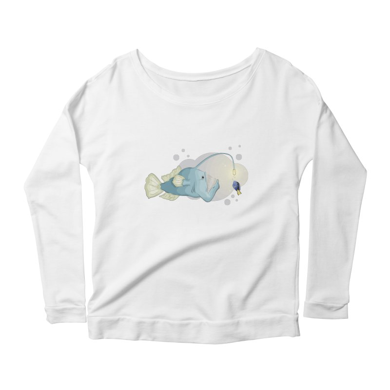 Anglerfish from the abyss Women's Scoop Neck Longsleeve T-Shirt by Synner Design