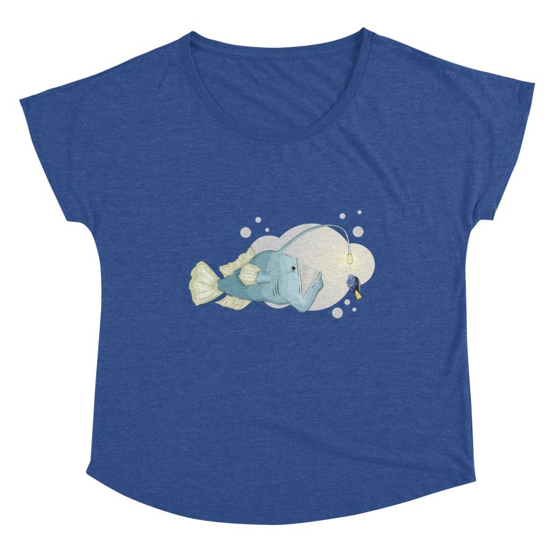 Anglerfish from the abyss Women's Dolman Scoop Neck by Synner Design