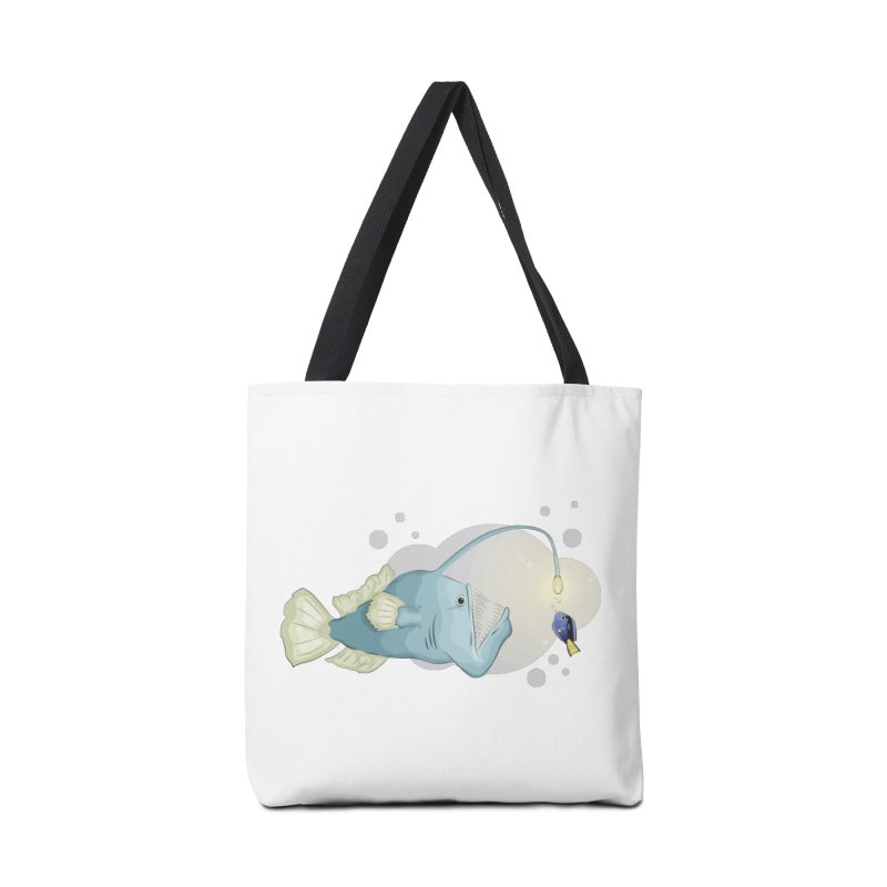 Anglerfish from the abyss Accessories Tote Bag Bag by Synner Design