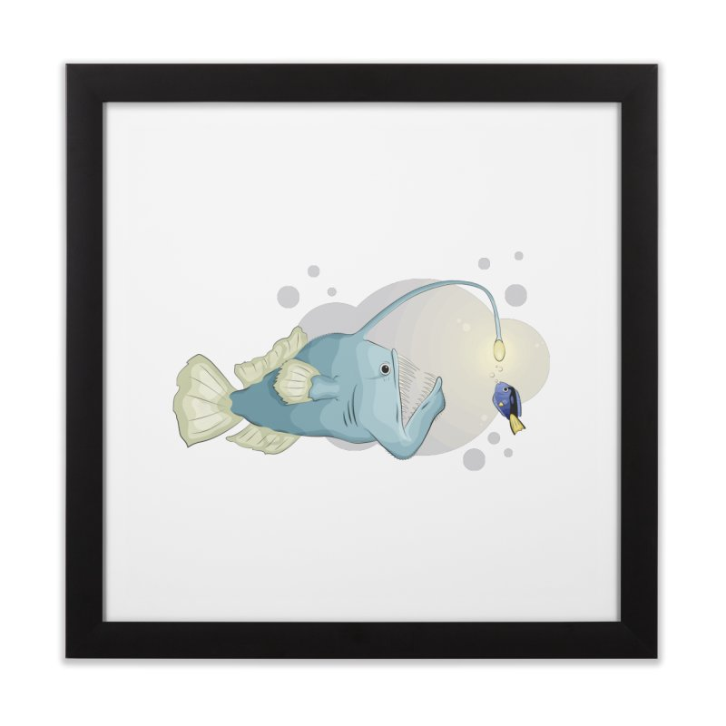 Anglerfish from the abyss Home Framed Fine Art Print by Synner Design