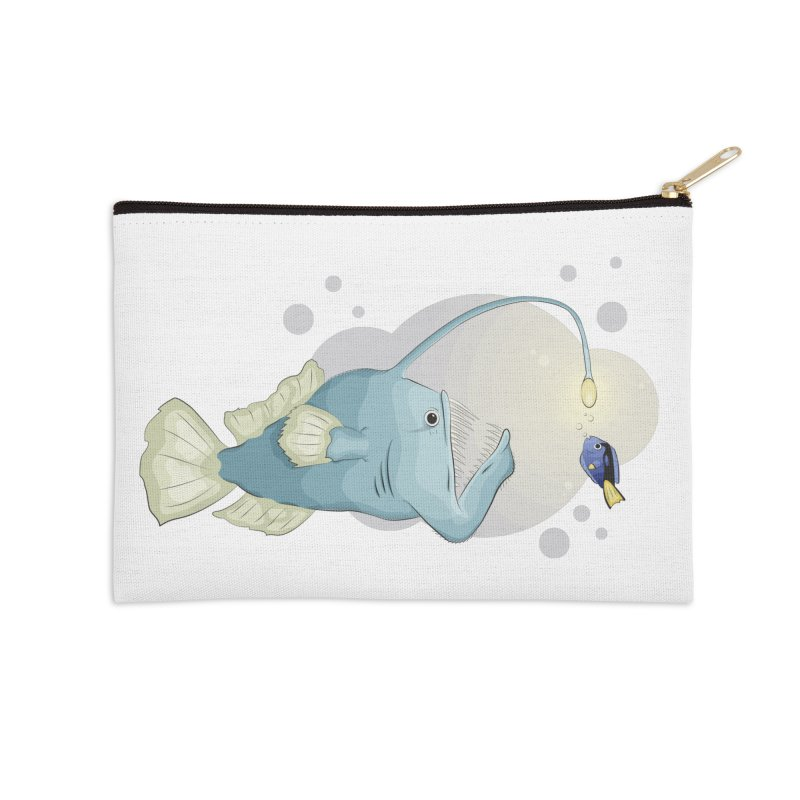 Anglerfish from the abyss Accessories Zip Pouch by Synner Design