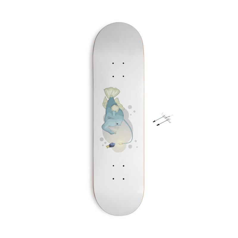 Anglerfish from the abyss Accessories Skateboard by Synner Design