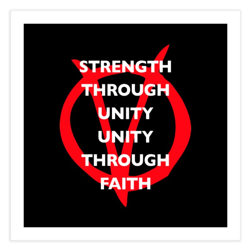 Strength through unity Home Fine Art Print by Synner Design
