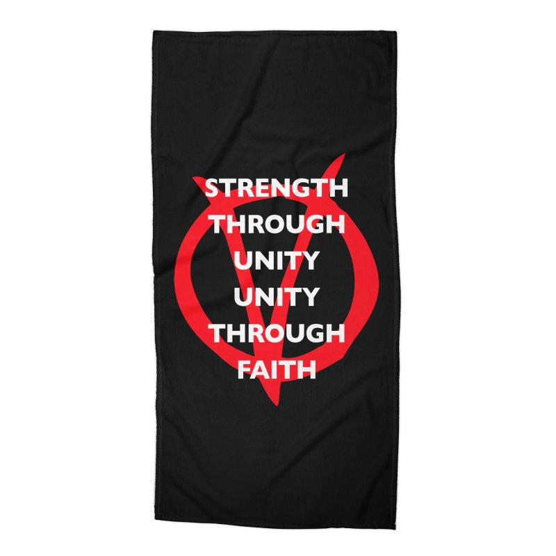 Strength through unity Accessories Beach Towel by Synner Design