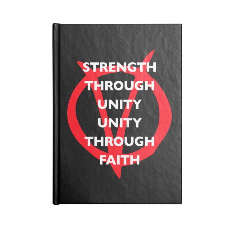 Strength through unity Accessories Notebook by Synner Design