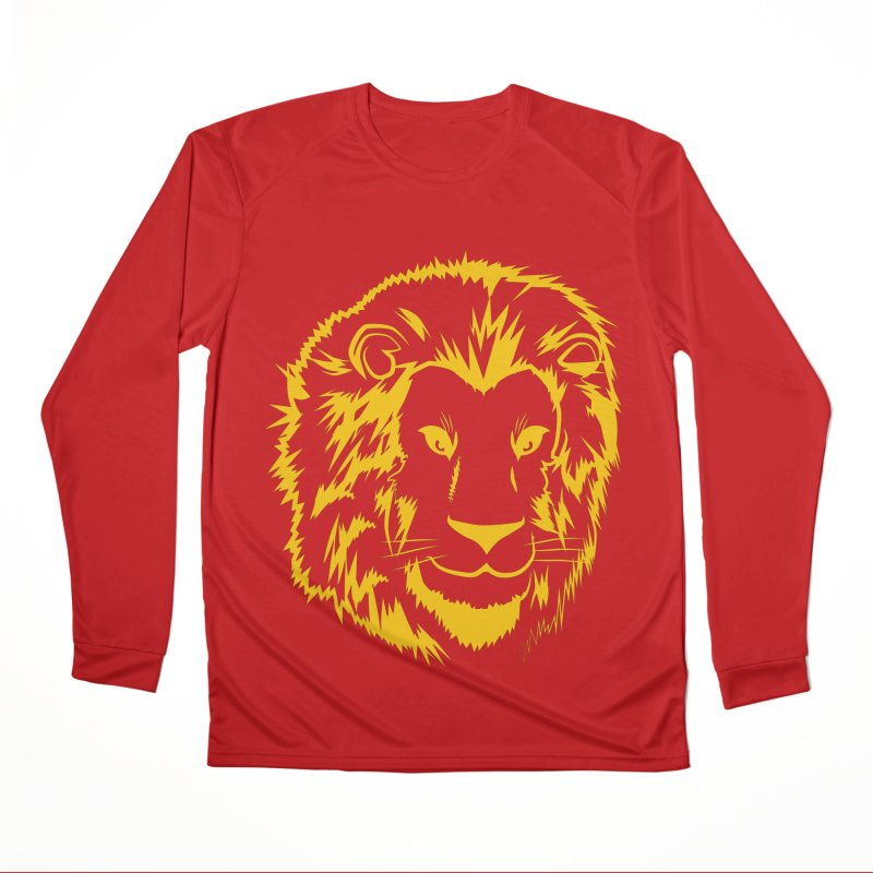 Yellow lion Women's Performance Unisex Longsleeve T-Shirt by Synner Design