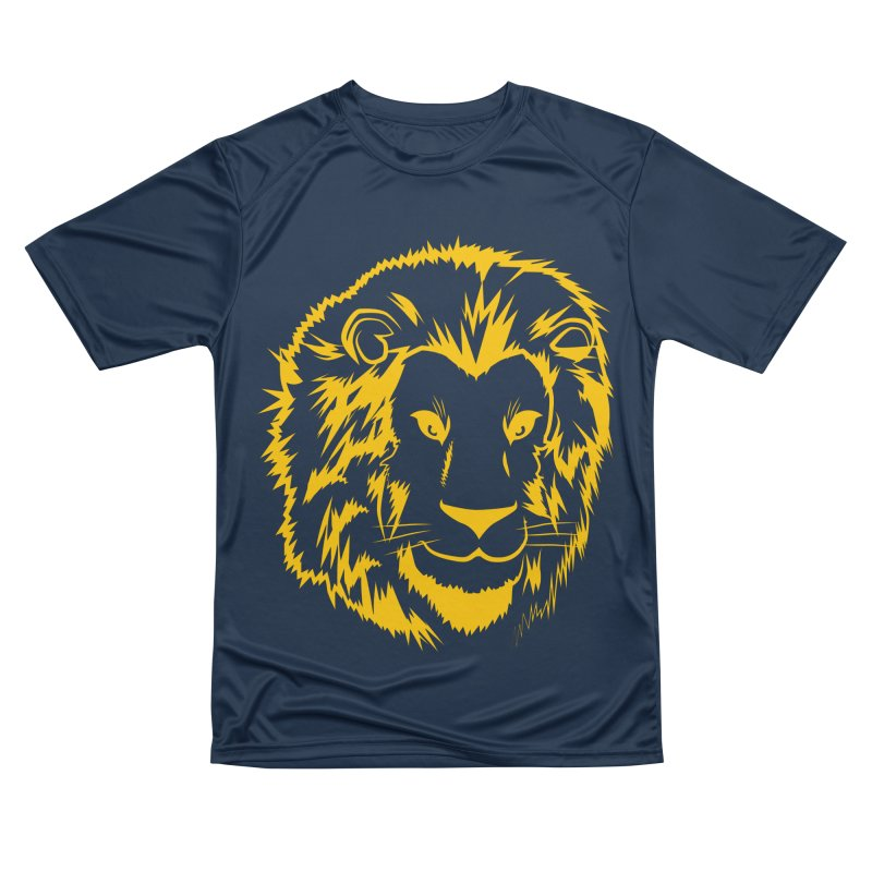Yellow lion Men's Performance T-Shirt by Synner Design