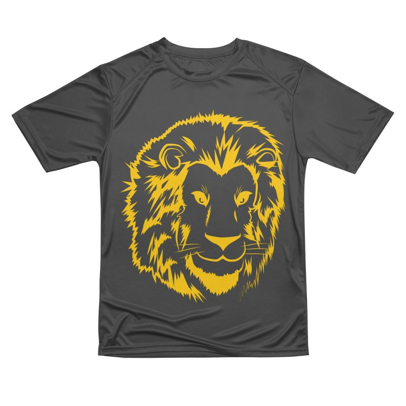 Yellow lion Women's Performance Unisex T-Shirt by Synner Design