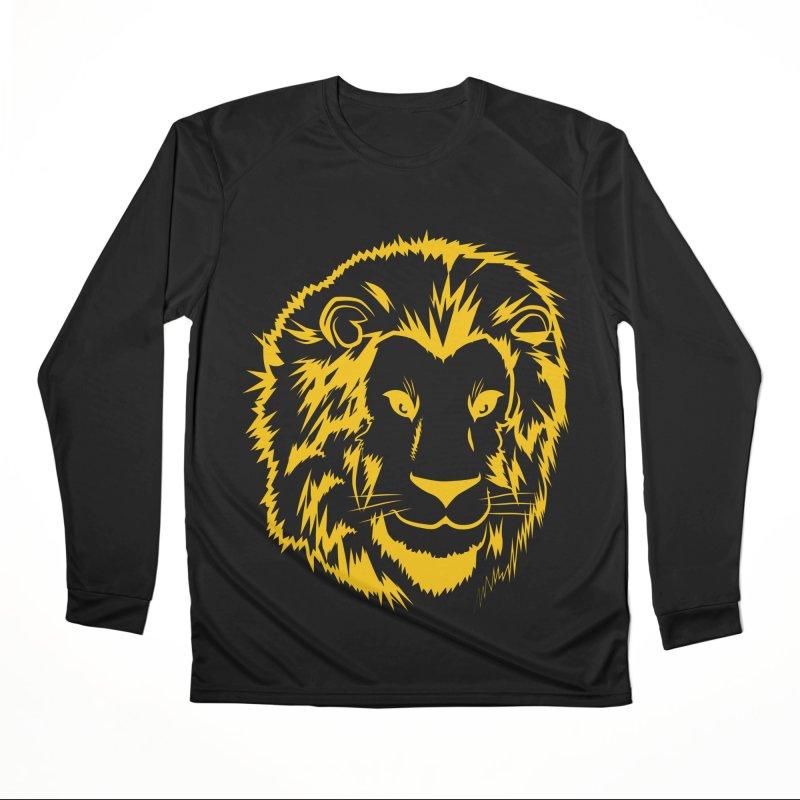 Yellow lion Men's Performance Longsleeve T-Shirt by Synner Design