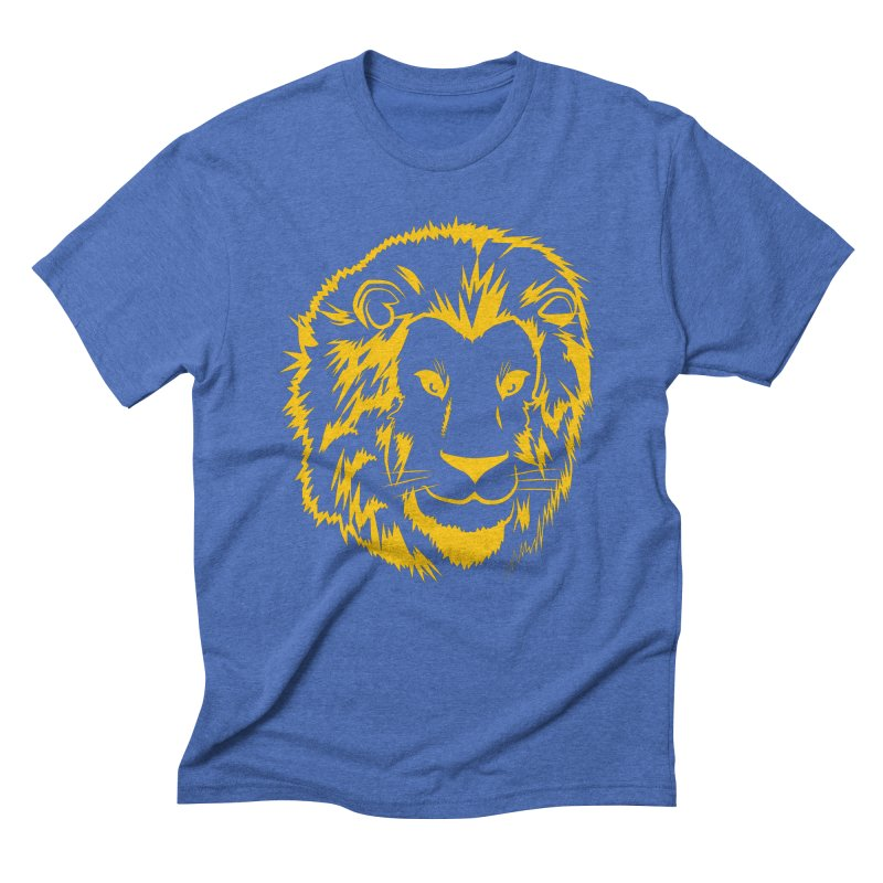 Yellow lion Men's T-Shirt by Synner Design