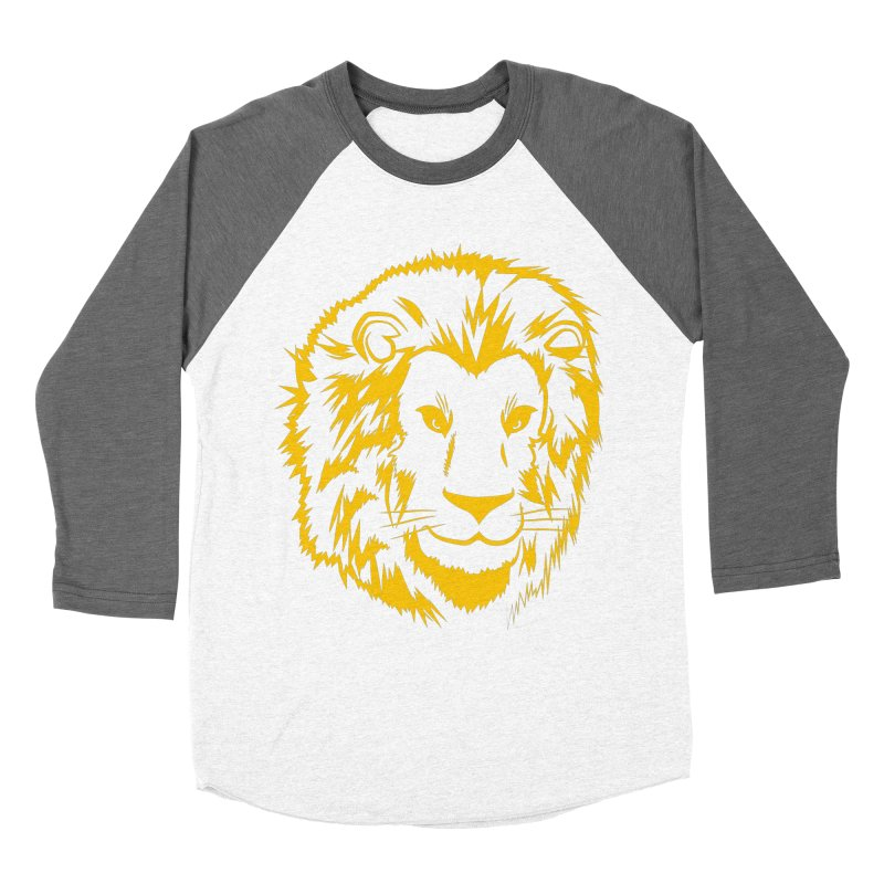 Yellow lion Women's Longsleeve T-Shirt by Synner Design