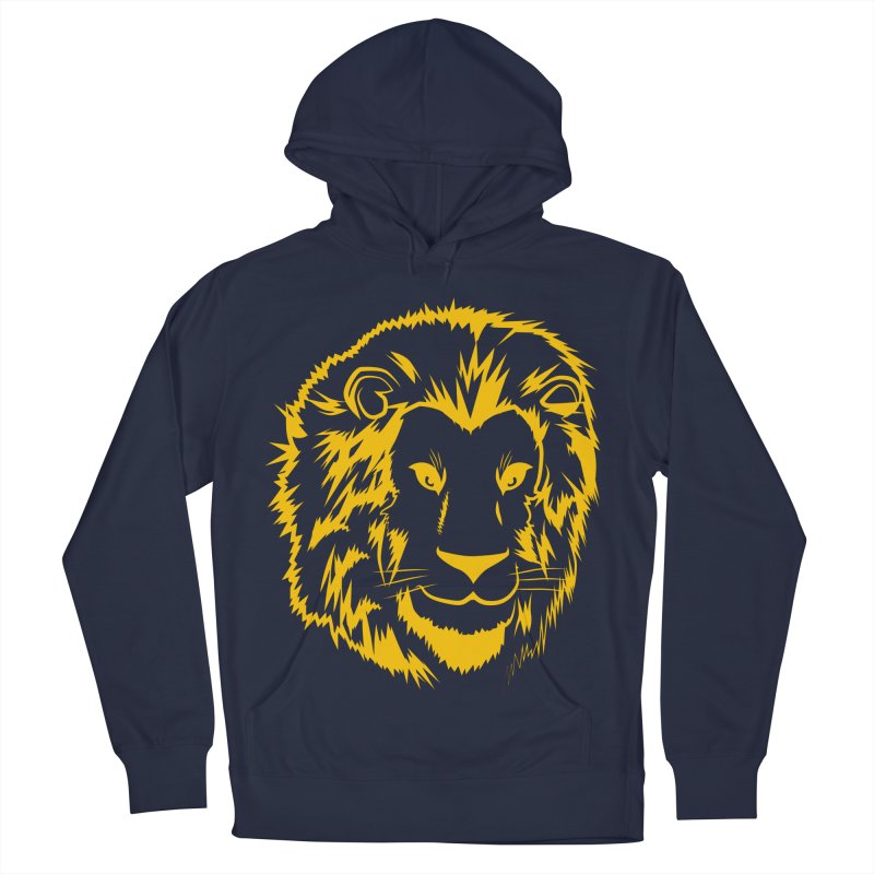 Yellow lion Men's French Terry Pullover Hoody by Synner Design