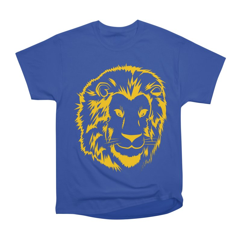 Yellow lion Men's Heavyweight T-Shirt by Synner Design