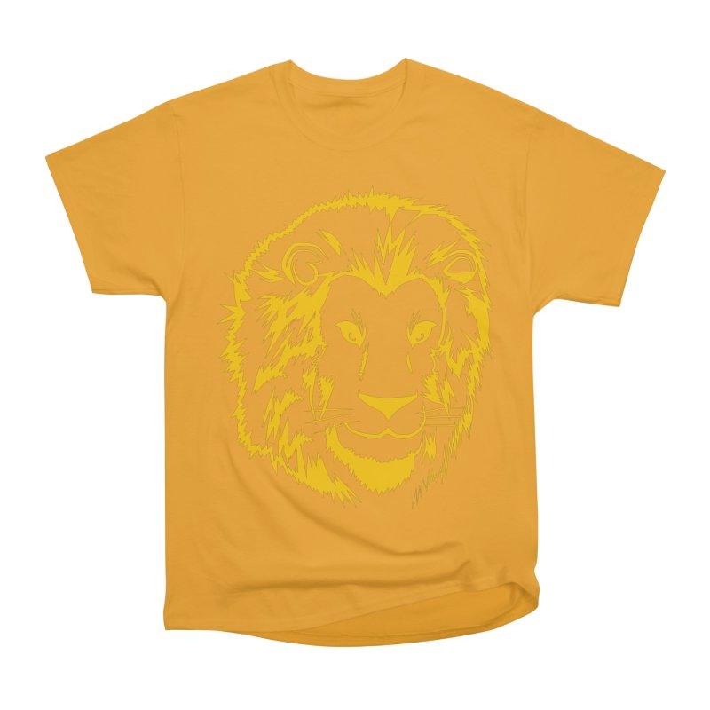 Yellow lion Women's Heavyweight Unisex T-Shirt by Synner Design