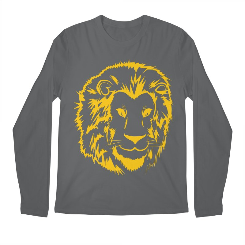 Yellow lion Men's Longsleeve T-Shirt by Synner Design