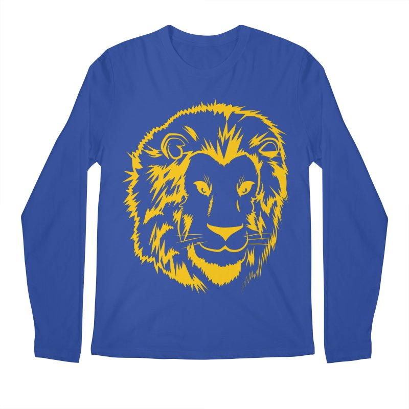 Yellow lion Men's Regular Longsleeve T-Shirt by Synner Design